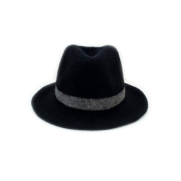 MONEY HAT 2016秋冬款 棉織黑帶紳士帽 黑色