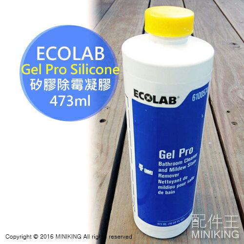【配件王】送擠壓頭 美國製 公司貨 ECOLAB Gel Pro Silicone 除霉凝膠 矽利康 發霉 長黴 浴室污垢清潔