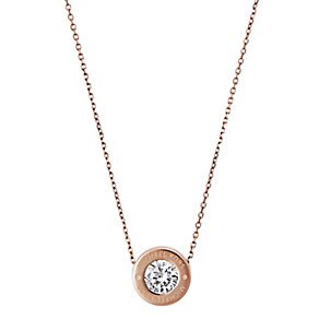 【MICHAEL KORS】MK 正品 Michael Kors Logo Crystal Necklace 項鍊 (金\銀\玫瑰金 共3色) 1