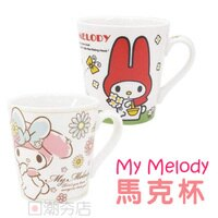 美樂蒂My Melody周邊商品推薦到[日潮夯店] 日本正版進口 My melody 美樂蒂 陶瓷 馬克杯 咖啡杯