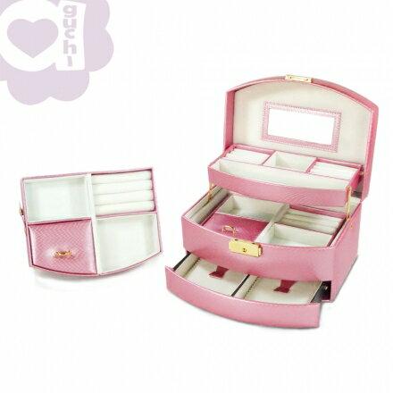 【Aguchi 亞古奇】皇家風範-香檳粉 (氣質貴族系列) 珠寶盒 1
