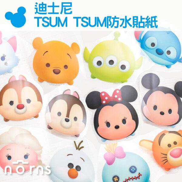 NORNS 【迪士尼 TSUM TSUM防水貼紙】米奇米妮 維尼 史迪奇 大眼仔 壁貼