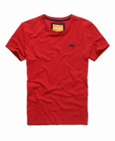 Superdry極度乾燥商品推薦美國百分百【Superdry】極度乾燥 T恤 上衣 T-shirt 短袖 短T 圓領 經典 紅 logo 素面 XL XXL號 F235