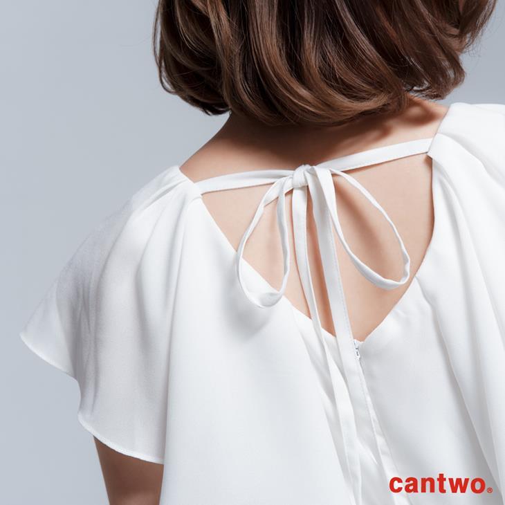 cantwo雪紡荷葉丹寧洋裝(共二色) 6