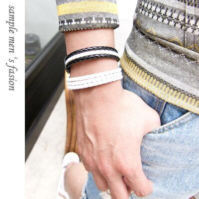 Sample【SA1514】韓版,涼夏精品編織皮革造型手環