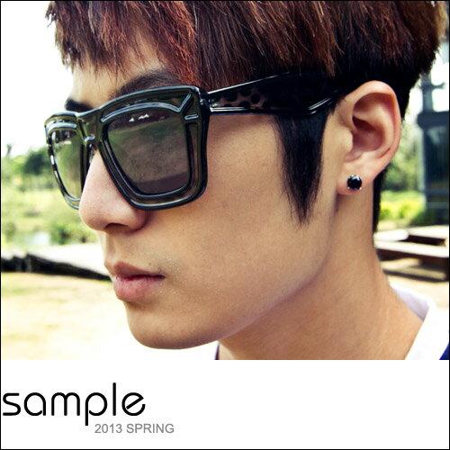 墨鏡【Sample】韓國設計Zinif款豹紋造型框墨鏡【SA4106】