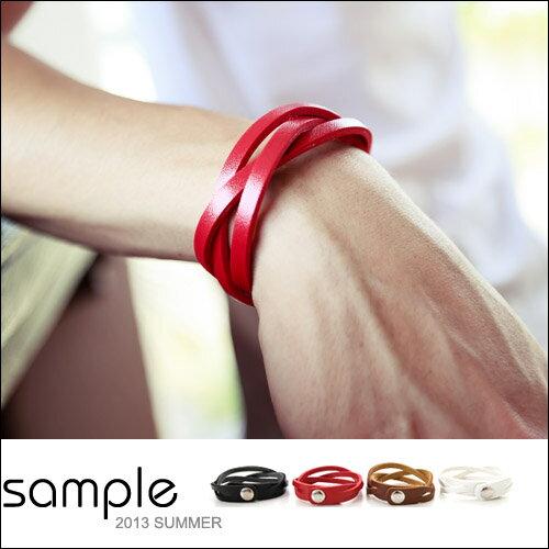 手環【Sample】編織交叉軟皮革手環【SA5221】