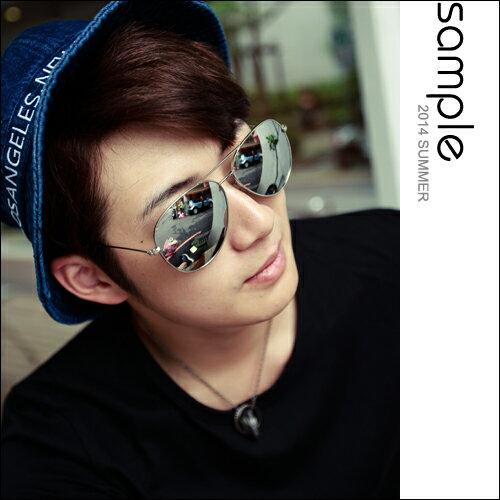 太陽眼鏡【Sample】金屬感水銀飛行員墨鏡【SA8324】