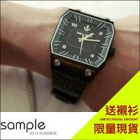 送男生聖誕交換禮物到手錶【Sample】韓國空運,質感方形金屬船錨手錶【SA8327】★ 送襯衫 男生聖誕交換禮物