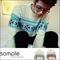 聖誕節禮物推薦到現貨毛衣【SA10611】韓國製,雪花點點 加厚針織 毛衣【Sample】