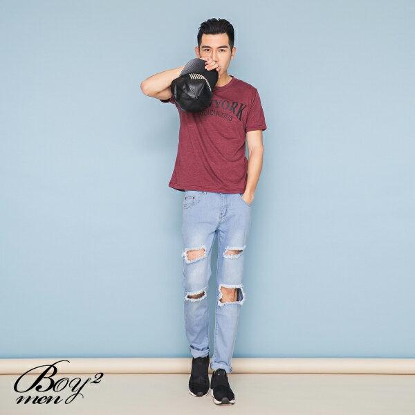 ☆BOY-2☆【OE10603】韓版休閒素面NEW YORK型男短袖T恤 2