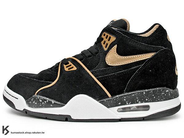 [29cm] 2015 最新 NSW 與 AIR JORDAN 4 IV 同鞋型 1989年 經典復刻 NIKE AIR FLIGHT '89 89 黑金 玫瑰金 麂皮 AJ G-DRAGON GD 著用 (306252-025) !
