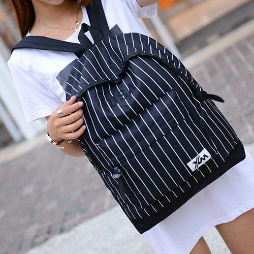 後背包-歐美時尚棒球杉條紋後背包 包飾衣院 P1475 現貨
