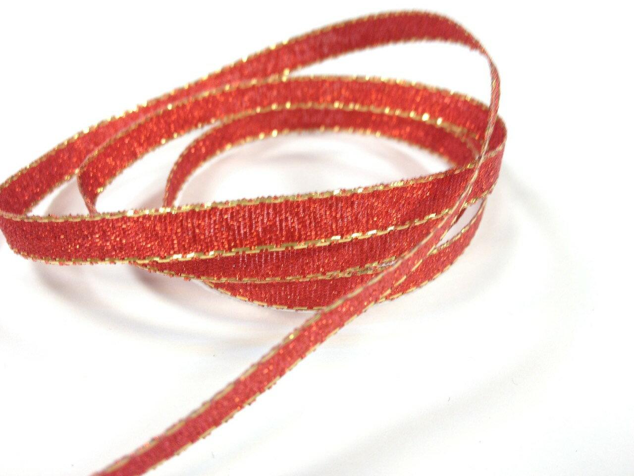 彩色金蔥鐵絲緞帶3mm、6mm、10mm 3碼 (10色) 8