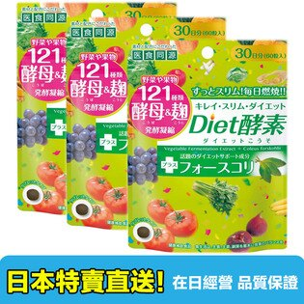 【海洋傳奇】【少量現貨】日本醫食同源Diet酵素 膠原蛋白 60粒3包組合【日本直送免運】