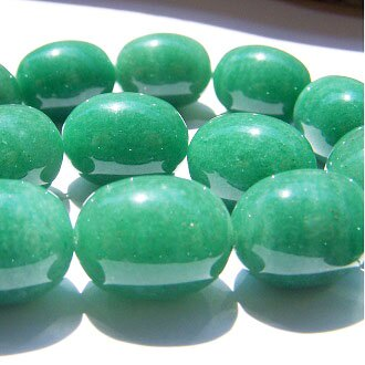 [印度東陵石]天然寶石 17X13mm米形珠 diy飾品散珠 1