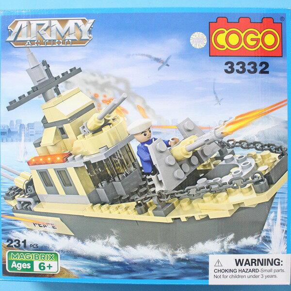 COGO積高積木 3332 軍艦積木 CF120877 可與樂高混拼(中) 約231片入/一盒入{促500}