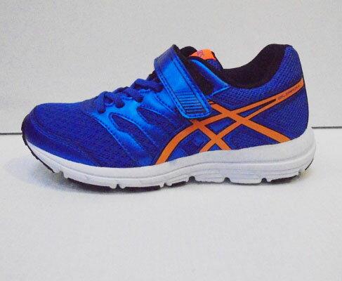 [陽光樂活]ASICS 亞瑟士 兒童慢跑鞋  藍X橘 C569N-3930