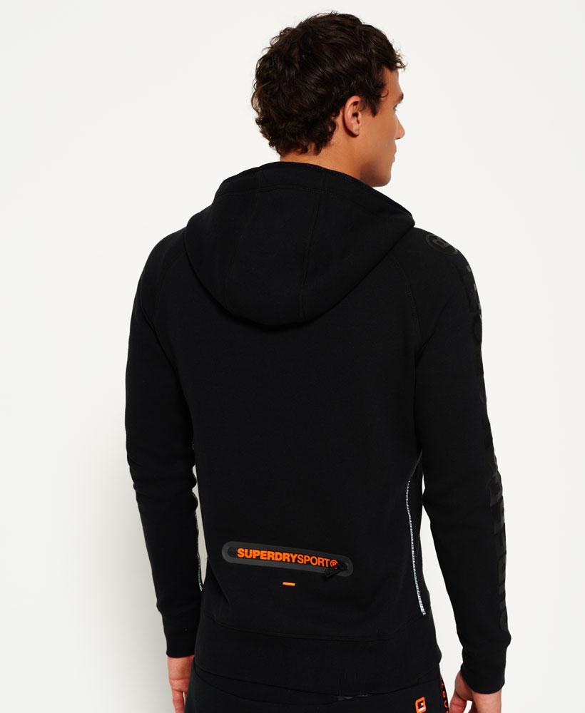 [男款] 英國名品 代購 極度乾燥 Superdry Gym Tech Panel 拉鍊運動男士戶外休閒連帽外套 黑色 2