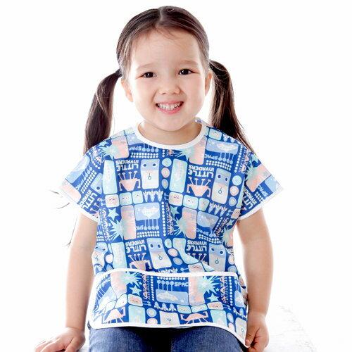 Baby City娃娃城 - 防水短袖圍兜(1-3A) 藍色機器人 2