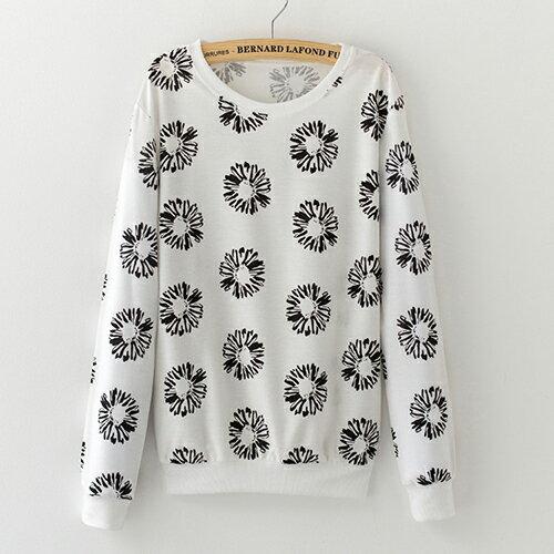 T恤 多款 森林系手繪風印花長袖T恤【YI】 BOBI  09/01 0