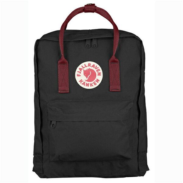 【Fjallraven Kanken 】Kånken Classic 550-326 Black & Ox Red 黑公牛紅