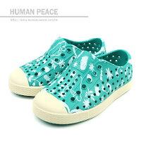 native 輕量懶人鞋、休閒防水鞋到native JEFFERSON PRINT CHILD 洞洞鞋 綠 小童 no400