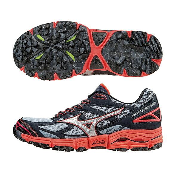 WAVE MUJIN 2(W) 女戶外慢跑鞋 J1GK157006(碳灰*銀)S【美津濃MIZUNO】