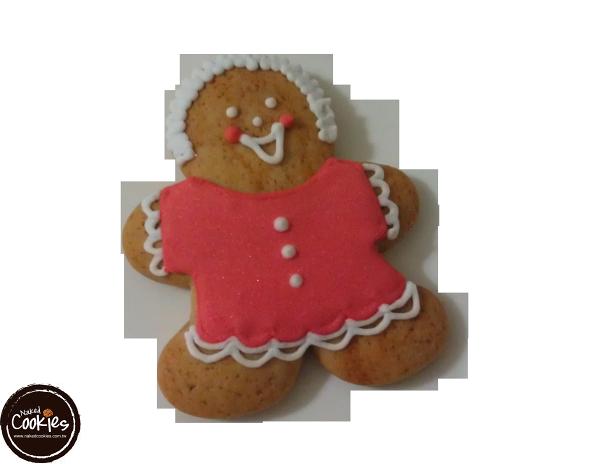 【裸餅乾Naked Cookies】薑餅人(紅大衣)6入-創意手工糖霜餅乾,婚禮小物/生日/活動/收涎/彌月
