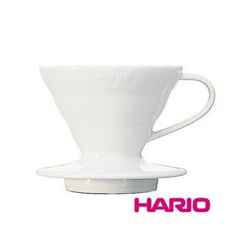 HARIO濾杯  ☆V60白色陶瓷圓錐形濾杯VDC-01W【1-2人份】