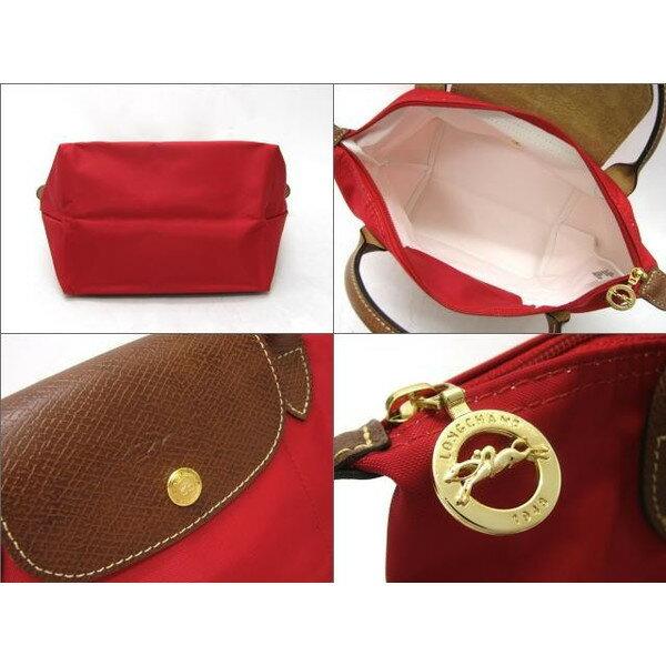 [短柄S號]國外Outlet代購正品 法國巴黎 Longchamp [1621-S號] 短柄 購物袋防水尼龍手提肩背水餃包 桃紅色 2