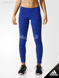 『Mossback』ADIDAS ESS TIGHI AOP 緊身 長褲 藍色(女)NO:AB6516
