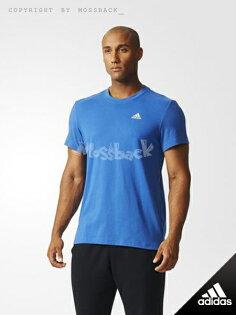 『Mossback』ADIDAS AEROKNIT T-SHIRT 運動 短T 藍色(男)NO:AB6946