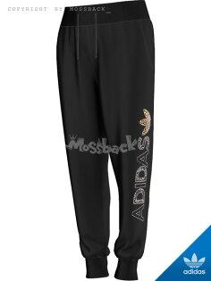 『Mossback』ADIDAS 長褲 豹紋 蛇紋 哈倫褲 收腳 棉褲 黑色(女)NO:AB2387