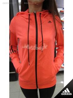 『Mossback』ADIDAS GYM HOODY 連帽 運動 外套 紅橘(女)NO:AB5561