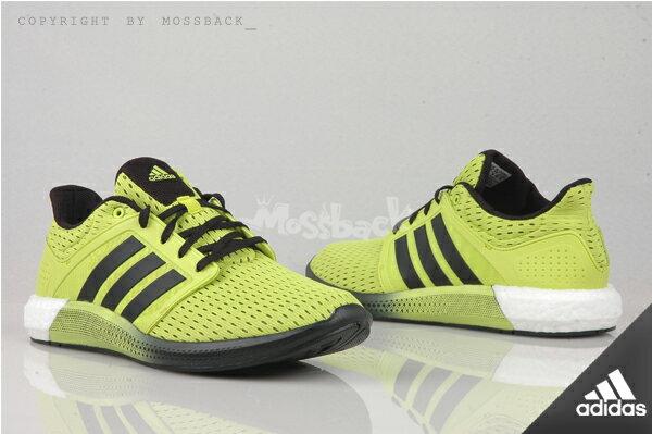 『Mossback』ADIDAS SOLAR BOOST M 透氣 輕量 慢跑鞋 黃黑(男)NO:D68997