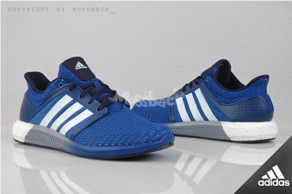 『Mossback』ADIDAS SOLAR BOOST M 透氣 輕量 慢跑鞋 藍白(男)NO:D69871