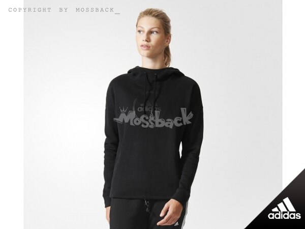 『Mossback』ADIDAS OH HOODY 刷毛 帽T 黑色(女)NO:AJ6439
