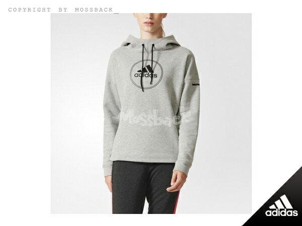 『Mossback』ADIDAS OH HOODY 刷毛 帽T 灰色(女)NO:AJ6440