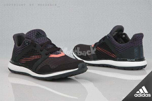 『Mossback』ADIDAS ENERGY BOUNCE 2 W 襪套 慢跑 黑色(女)NO:AQ5665