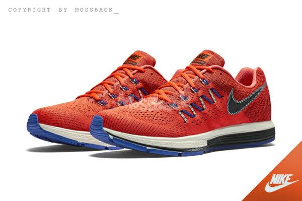 『Mossback』NIKE AIR ZOOM VOMERO 10 慢跑鞋 輕量 橘藍白(男)NO:717440-801