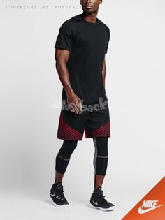 『Mossback』NIKE ELITE REVEAL 籃球 短褲 透氣 黑紅(男)NO:718387-012