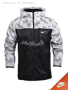 『Mossback』NIKE AV15 WINGER JACKET 馬賽克 連帽 外套 黑白(男)NO:727578-100