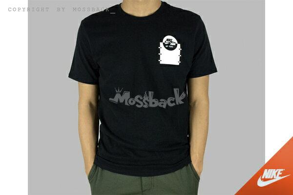 『Mossback』NIKE AIR FORCE1 TEE 圓領 短袖T恤 黑色(男)NO:742759-010