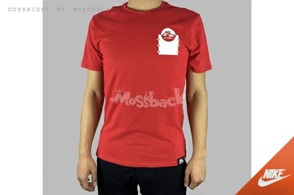 『Mossback』NIKE AIR FORCE1 TEE 圓領 短袖T恤 紅色(男)NO:742759-657
