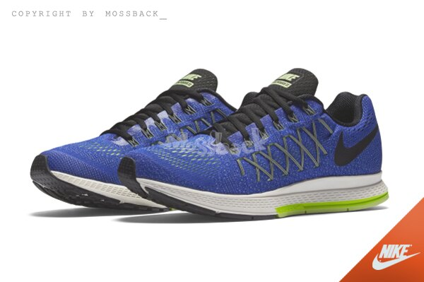 『Mossback』NIKE AIR ZOOM PEGASUS 32 輕量 飛線 跑鞋 藍色(男)NO:749340-407
