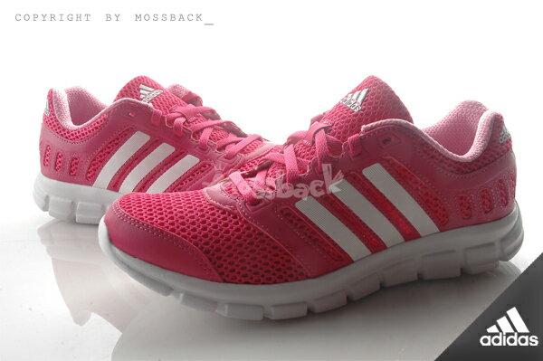 『Mossback』ADIDAS BREEZE 101 2 W 輕量 慢跑鞋 白桃紅(女)NO:AF5344