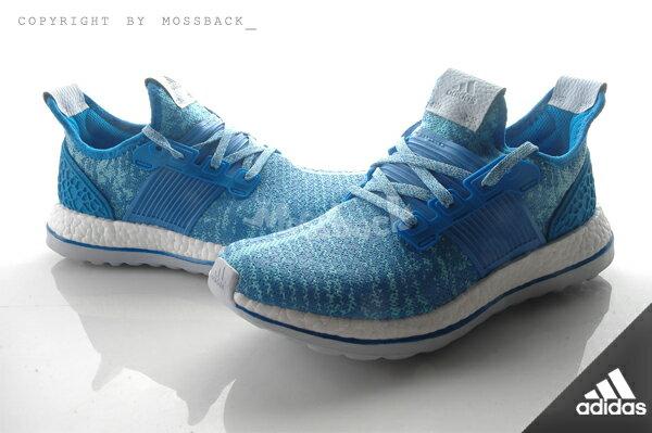 『Mossback』ADIDAS PUREBOOST ZG W 編織 慢跑鞋 藍色(女)NO:AQ2932