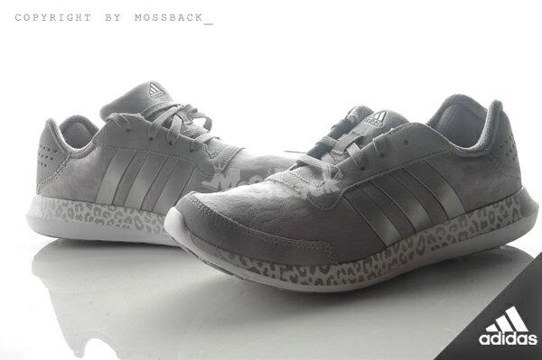 『Mossback』ADIDAS ELEMENT REFRESH W 豹紋底 慢跑鞋 銀灰(女)NO:AQ4959