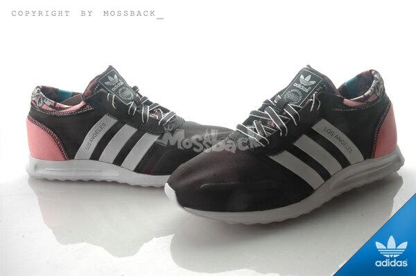 『Mossback』ADIDAS LOS ANGELES W 馬牌底 慢跑鞋 黑粉(女)NO:S78916